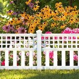 white fence edging