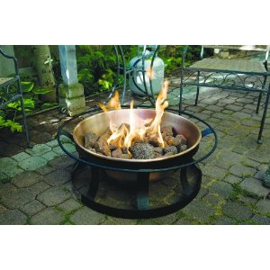 Attractive Gas Fire Pit. All You Need To Do Is Hook It Up To A Source Of Propane And  Youu0027re Ready To Go. Small Canisters Will Last Several Hours When The Pit Is  Set On ...