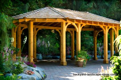 Fire Pit Gazebo Plans http://www.backyard-landscape-ideas.com/gazebo-design.html