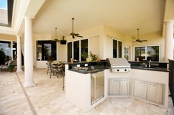 Kitchendesigns on Outdoor Kitchen Designs Include Islands Of Various Shapes  Countertops