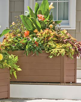 Choosing Outdoor Planters Self Watering Raised Bed Earth Box And