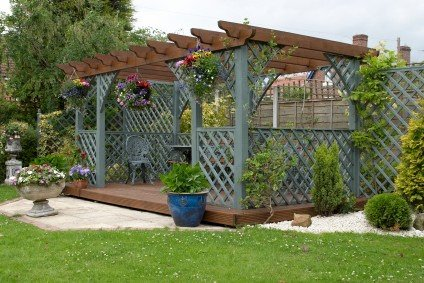 pergola design with floor
