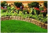 fake stone flower bed edging